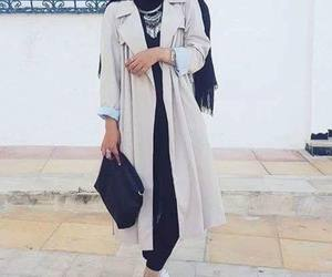 hijab, outfit, and voilée image