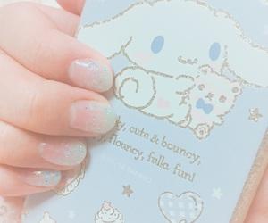 blue, nail, and pastel image