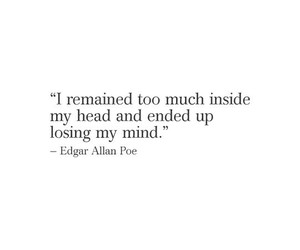 quotes, edgar allan poe, and mind image