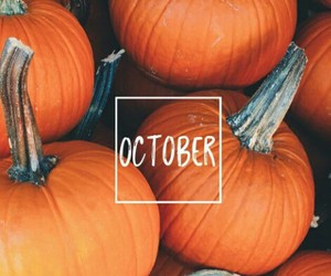 october, fall, and pumpkin image