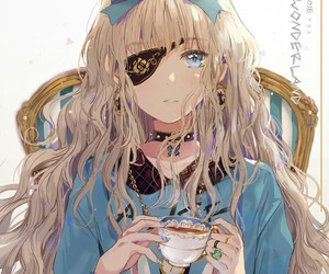 anime, anime girl, and alice in wonderland image