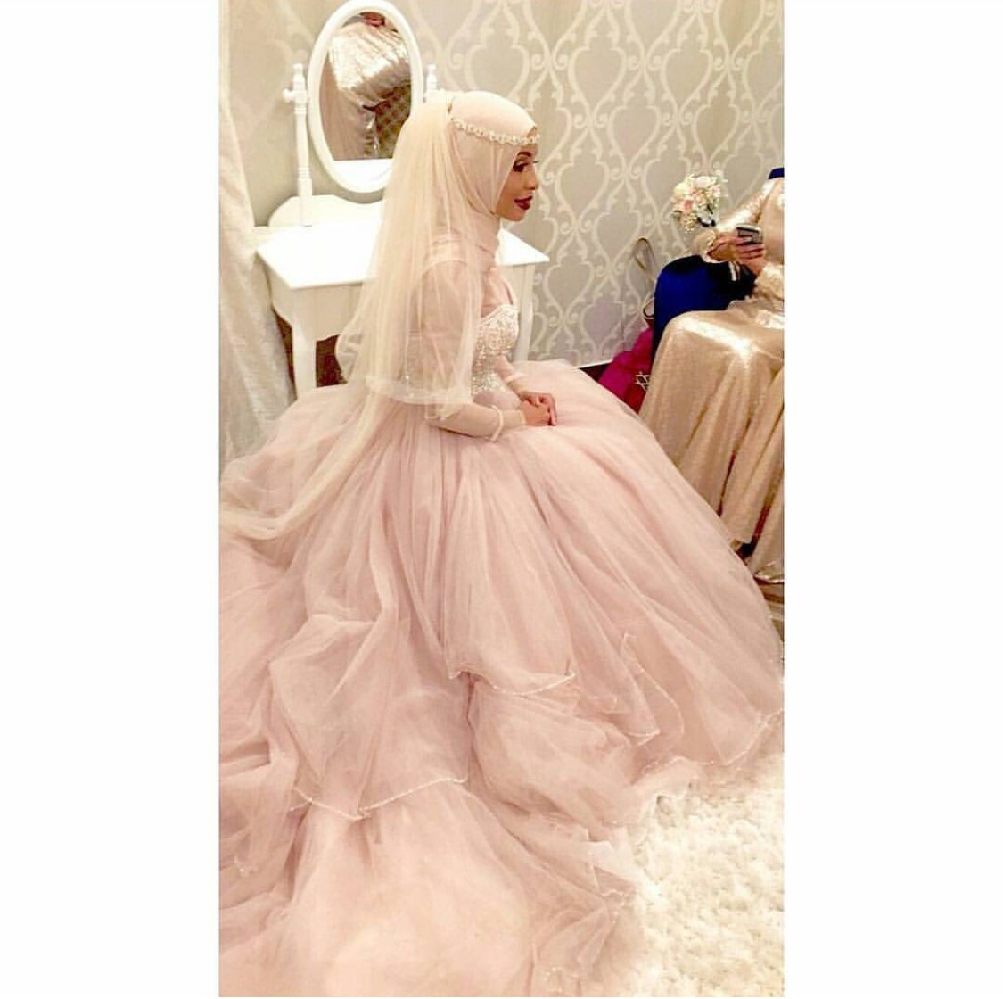 214 Images About Muslim Wedding Dresses On We Heart It See More About Wedding Dress And Hijab