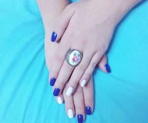 blue, mine, and nails image