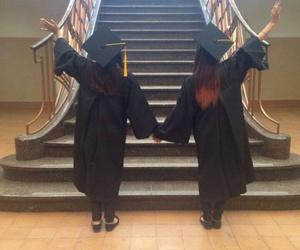 best friends, graduation, and friends image