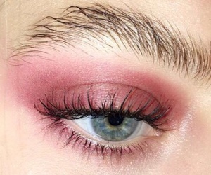 pink, beauty, and eyes image