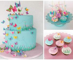 birthday, birthday cake, and butterfly image