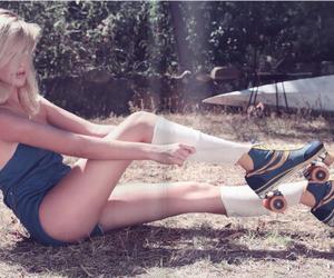 girl, blonde, and skates image