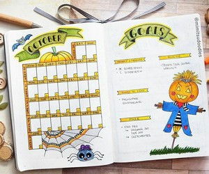 Halloween, journal, and planner image