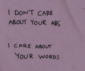 quotes, words, and abs image