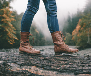 boots, jeans, and fall image