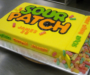 sour patch, candy cake, and 3d cakes image