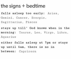 sign, bedtime, and gemini image