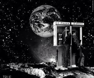 earth, planet, and telephone image