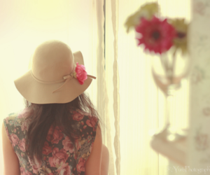 floral, flower, and hat image