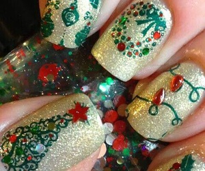 nails, christmas, and xmas image