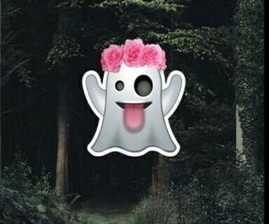 ghost, wallpaper, and emoji image