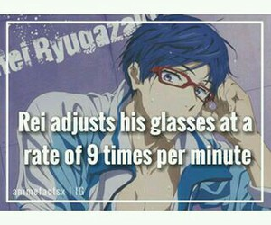 anime, free!, and anime facts image