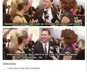 loki, tom hiddleston, and funny image
