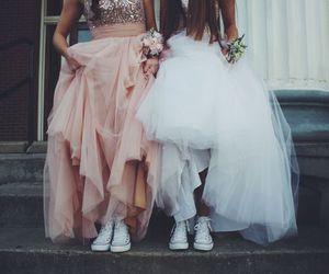 dress, friends, and shoes image