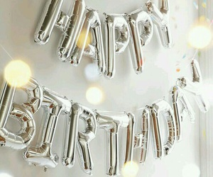 silver, balloons, and birthday image