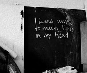 quotes, head, and black and white image