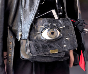 asian fashion, bag, and black image