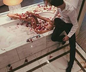 bath, kiss, and sexy image