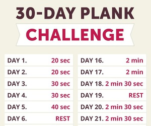 plank, challenge, and exercise image