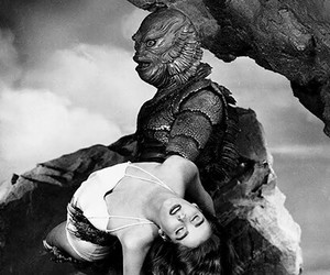 black and white, creature, and black lagoon image
