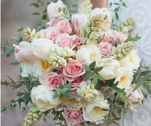 flowers, roses, and wedding image