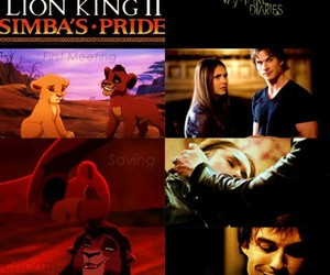 the lion king, the vampire diaries, and ian somerhalder image