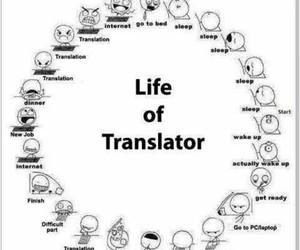 life, sleep, and translate image