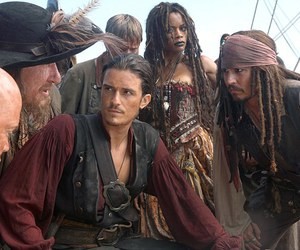jack sparrow, johnny depp, and geoffrey rush image