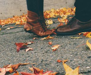 autumn, fall, and couple image