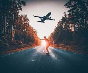 airplane, travel, and amazing image