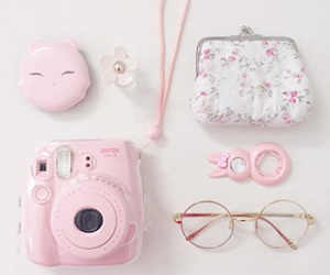 pastel, pink, and accessories image