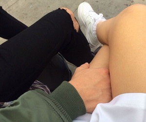 ripped jeans, boyfriend, and fashion image