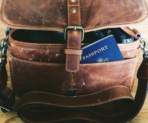 bag, passport, and travel image
