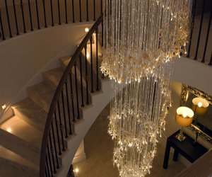 home, luxury, and chandelier image