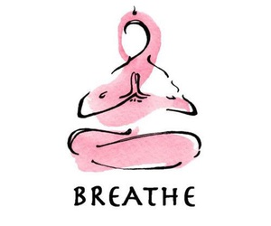 breathe, yoga, and quotes image
