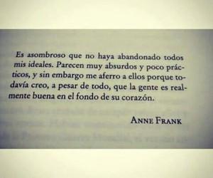 ana frank, bondad, and ideales image