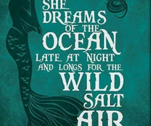 mermaid, ocean, and Dream image