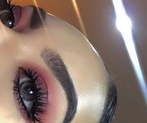 eyebrows, matte, and shimmer image