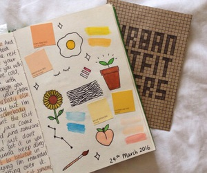 flowers, diary, and journal image