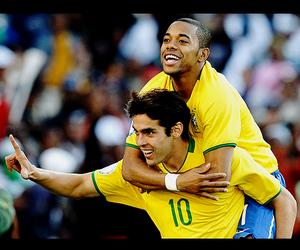 brazil, kaka, and robinho image