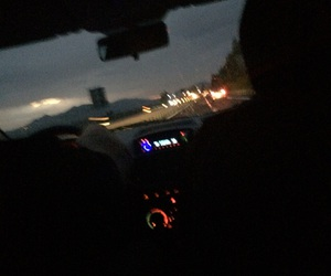 car, dark, and street image