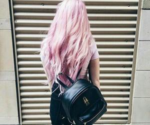 hair, pink, and grunge image