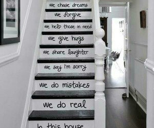 love, stairs, and home image