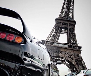 cars, eiffel tower, and paris image