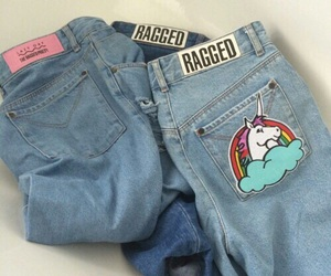 jeans, unicorn, and grunge image